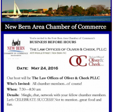 Business Before Hours, New Bern Area Chamber of Commerce